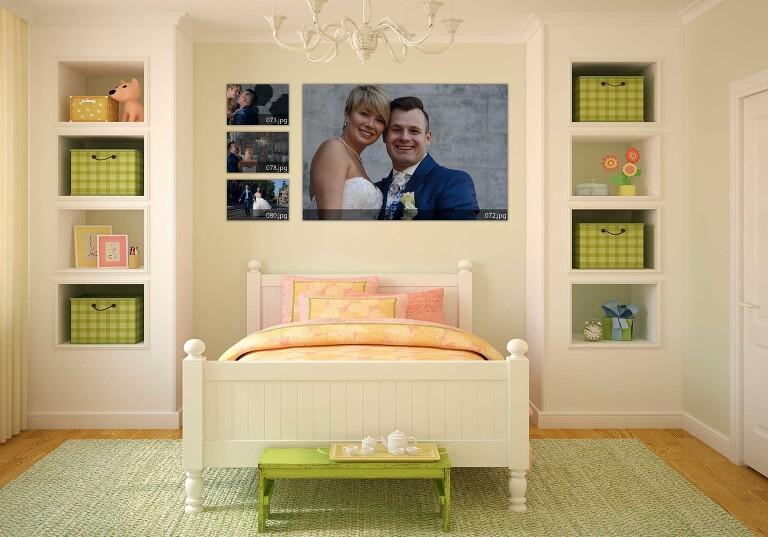 Trouw foto uitvergroten en geef haar aandacht in huis - Naakt in haar woonkamer ...