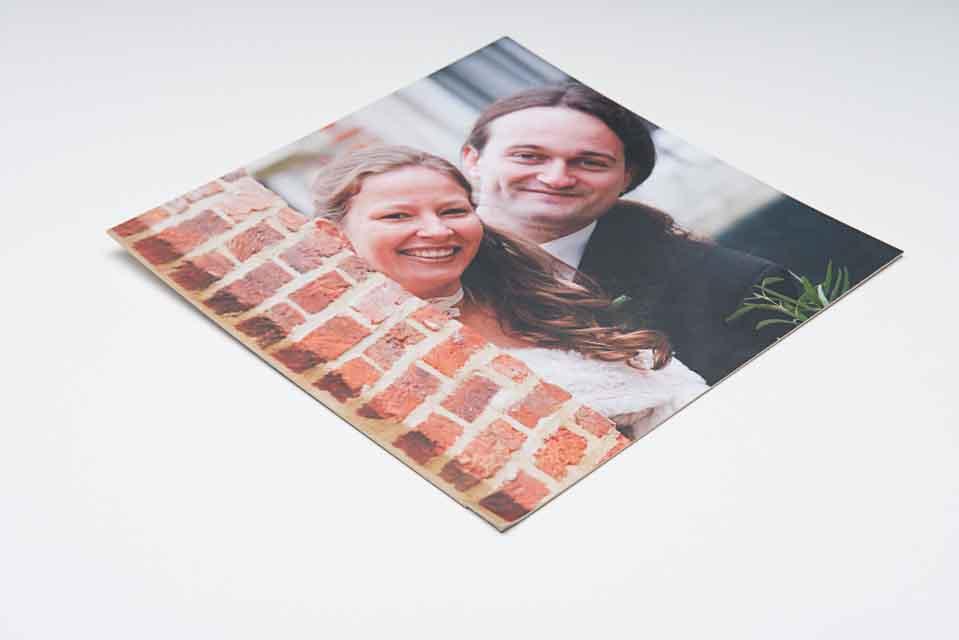 Je leukste foto huwelijk laat vastleggen op bristol karton