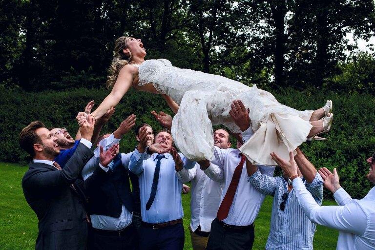 groepsfoto huwelijk